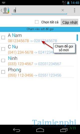 download Cập nhật mã vùng điện thoại