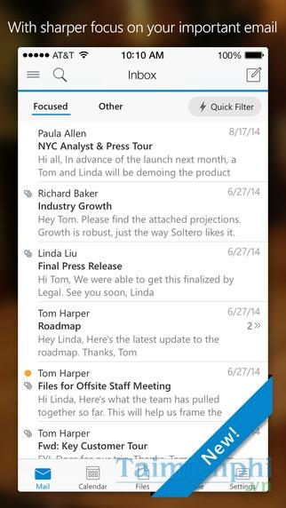 tai Microsoft Outlook cho dien thoai