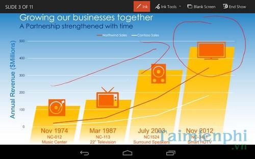 tai Microsoft PowerPoint Preview cho dien thoai