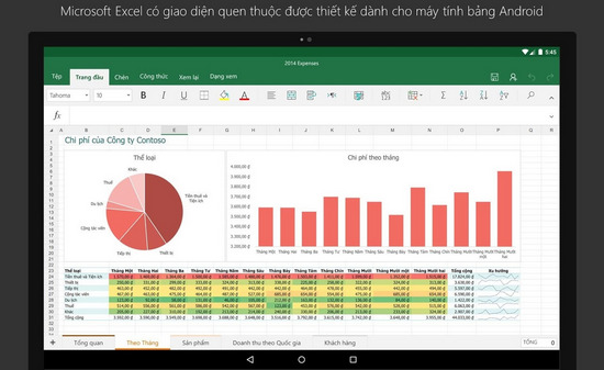 tai excel cho android