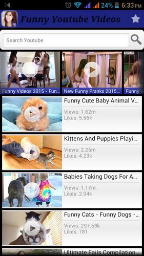 Funny Youtube Videos - ứng dụng tìm kiếm những video Youtube hài hước