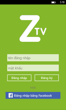 Zing TV for Windows Phone