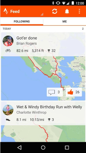 Strava for Android
