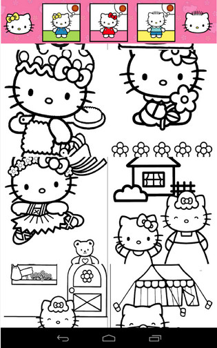 tai Hello Hello Kittys Coloring cho Android