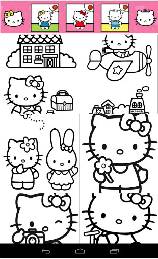 download Hello Hello Kittys Coloring cho Android