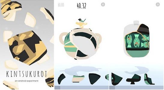 Kintsukuroi cho Android - Game chữa bình gốm trên Android