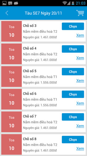 duong sat viet nam cho android