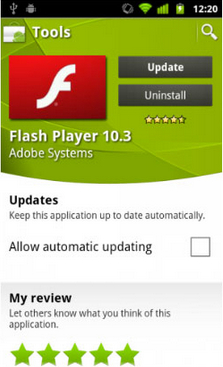 Adobe Flash Player cho Android