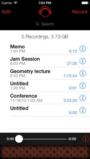 iTalk Recorder for iOS