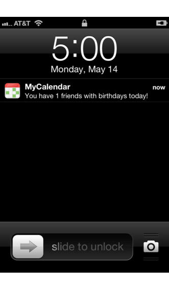 MyCalendar Mobile for iPhone