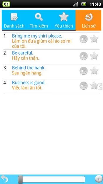 1000 English Phrases for Android - 1000 câu tiếng anh thông