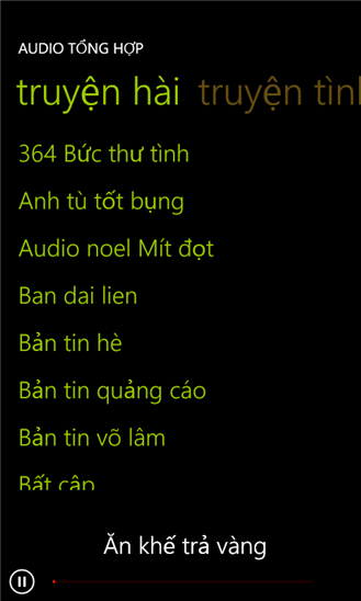 Audio tổng hợp for Windows Phone