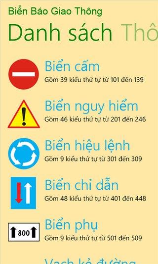 Biển báo giao thông for Windows Phone