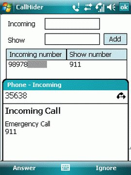 Call Hider for Windows Mobile