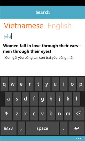 English for Vietnames for Windows Phone