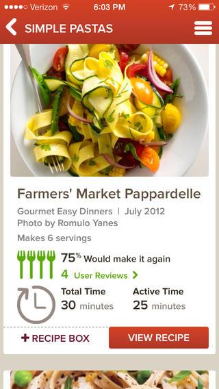 Epicurious Recipes & Shopping List for iOS