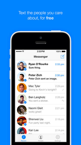 tai Facebook Messenger cho iPhone