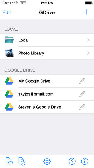 GDrive for Google Drive for iOS