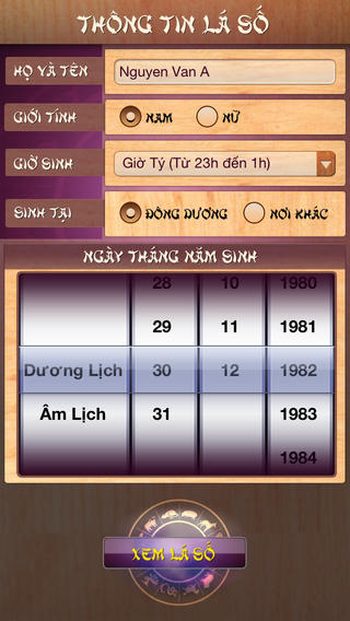 Lá số tử vi for iOS