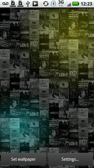 Phần mềm Living Music Wallpaper for Android được thiết kế nhằm giúp người  dùng đưa những hình ảnh album nghệ thuật thành những hình nền độc đáo cho  chiếc dế ...