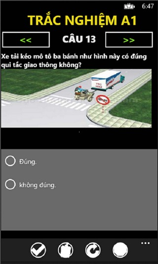 Trắc nghiệm A1 for Windows Phone