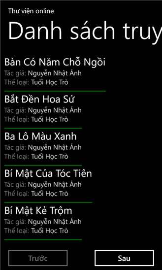 Tủ sách online for Windows Phone
