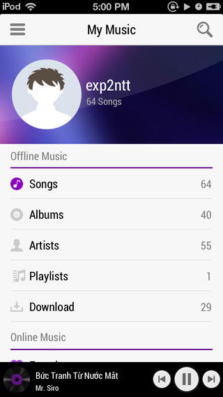 Zing MP3 for iOS
