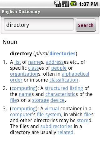 english english dictionary