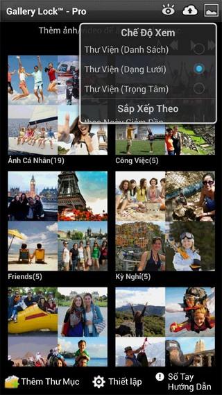 Gallery Lock Pro for Android - Khóa file hình ảnh, video