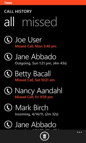 tango windows phone 8