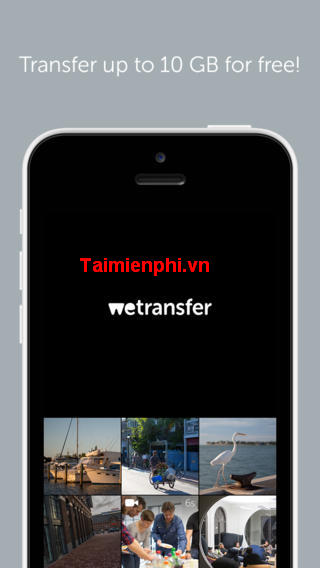 wetransfer su iphone