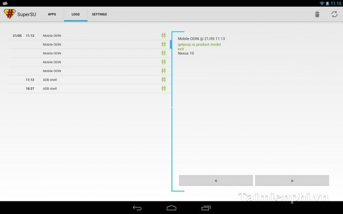 SuperSU Android - Quản lý truyền truy cập