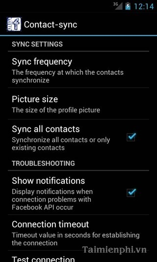 tai UberSync Facebook Contact Sync cho Android
