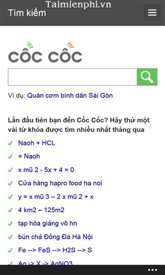 coccoc winphone