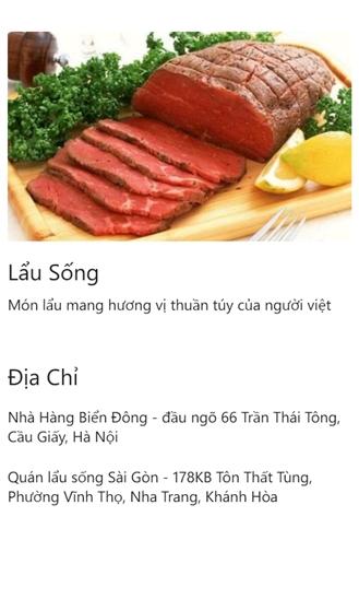 Bản đồ ăn vặt for Windows Phone