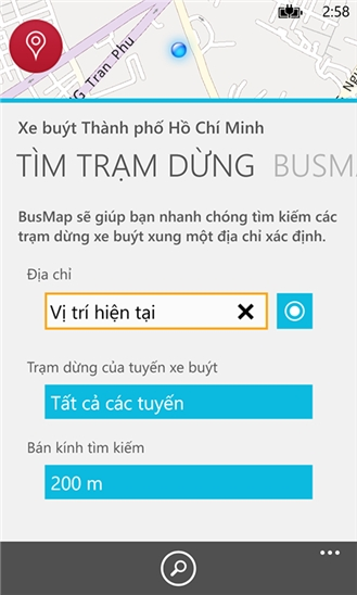 BusMap for Windows Phone