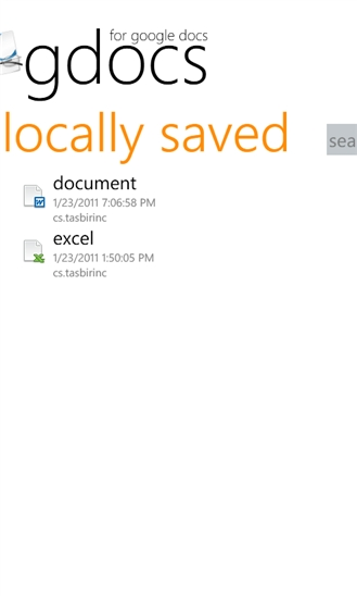 GDocs for Windows Phone