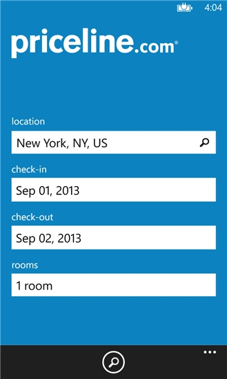 Priceline Hotels for Windows Phone