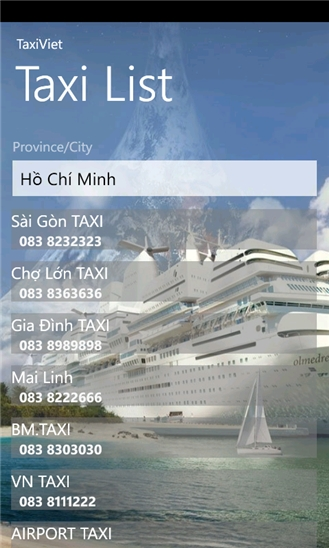 TaxiViet for Windows Phone