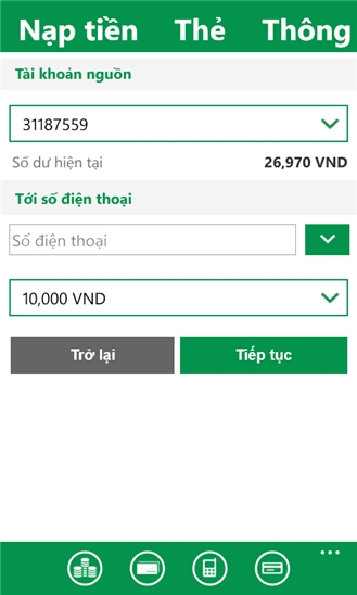 VPBank for Windows Phone