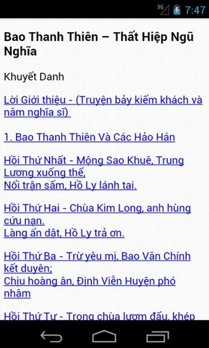 Bao Thanh Thiên for Android