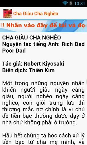 Cha giàu cha nghèo for Android
