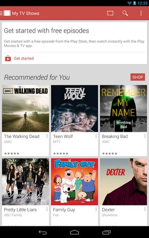Google Play Movies TV for Android