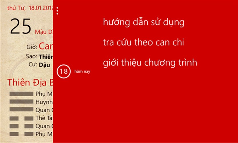 Lịch Ngũ Linh for Windows Phone