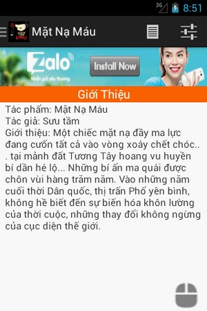 Mặt nạ máu for Android